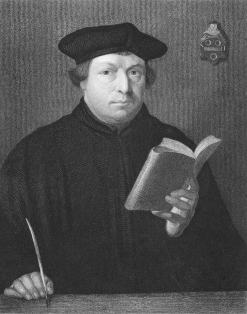 Martin Luther in robe and hat