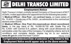 Delhi Transco Limited Recruitment 2016 indgovtjobs