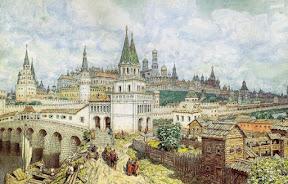 Расцвет Кремля. Всехсвятский мост и Кремль в конце XVII века, 1922