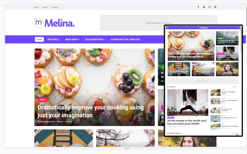 SEO optmized and Ads ready blogger template