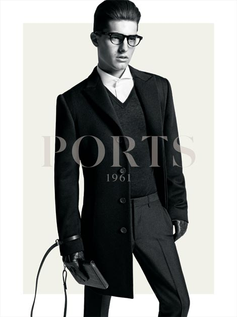 Paolo Anchisi @ Ford by Inez & Vinoodh for Ports 1961, F/W 2011-12