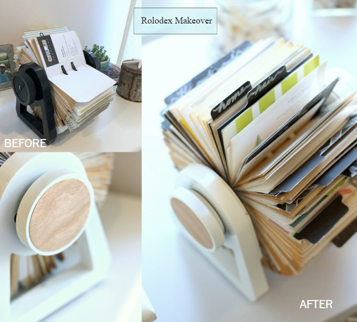 Blog Rolodex Makeover Before and After