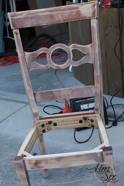Sanding desk chair for makeover