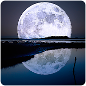 Beautiful moon. Wallpaper.