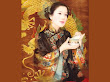 Samurai Fantasy Girl With A Box