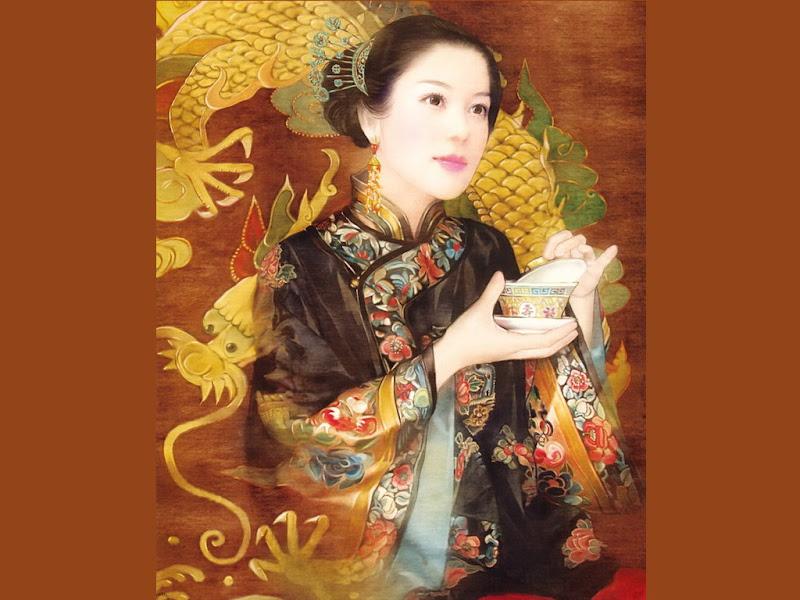 Samurai Fantasy Girl With A Box, Magic Samurai Beauties