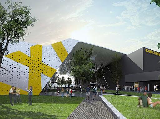 Cineteca Nacional del Siglo XXI Con Diseño Verde