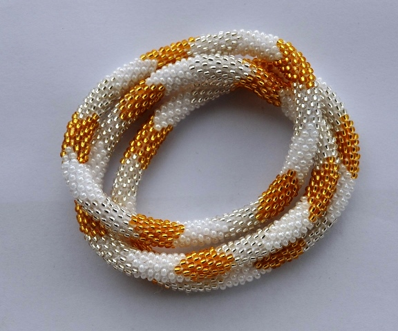 Hand Crotchet Glass Bracelets