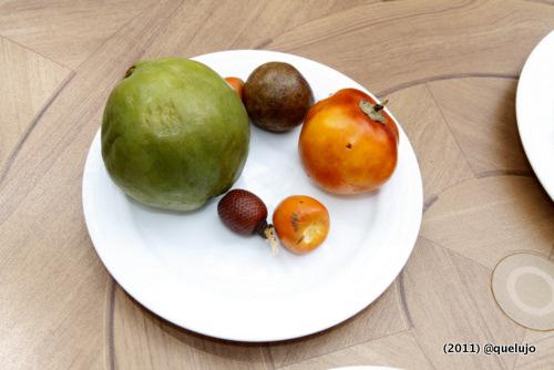 Ingredientes de la Cocina Amazónica. Guayabas, Pijiguao, Moriche