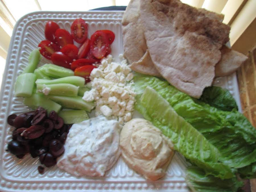 The mediterranean platter recipe just a pinch recipes for Jj fish n chicken