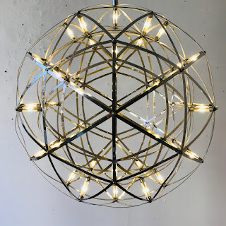 Chrome Double Sphere Pendant Light