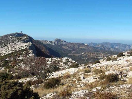 Vue vers l'ouest du Massif (pic de Bertagne)