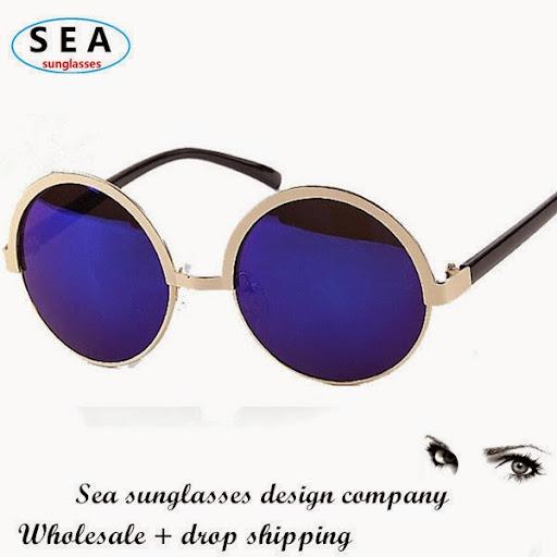 Vintage Round metal frame fashion glasses gafas men sun
