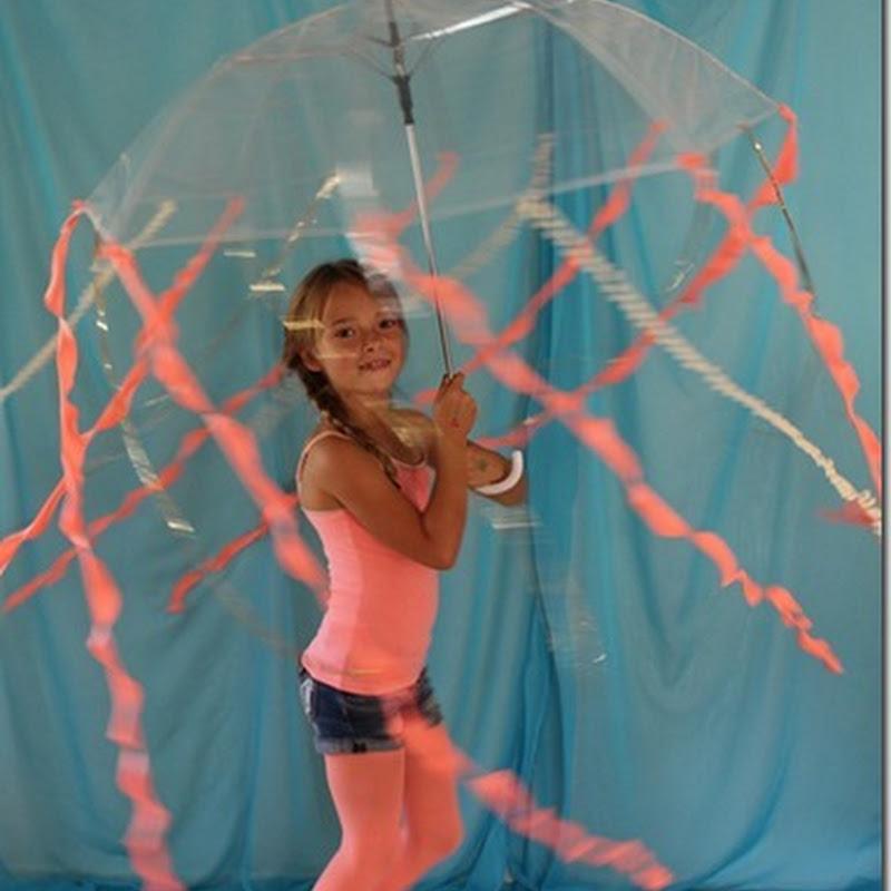 Disfraz casero de medusa para escolares