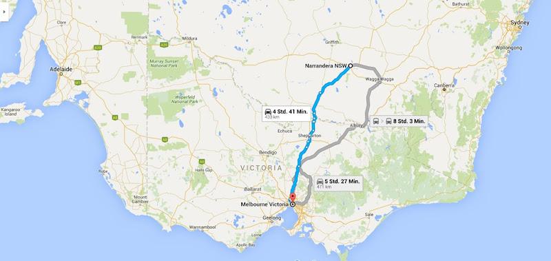 z4 von Narrandera nach Melbourne
