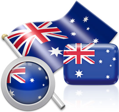 Australian flag icons pictures collection