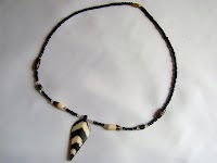 Bone Pendant Necklace (Single Strand - Male - Batik)