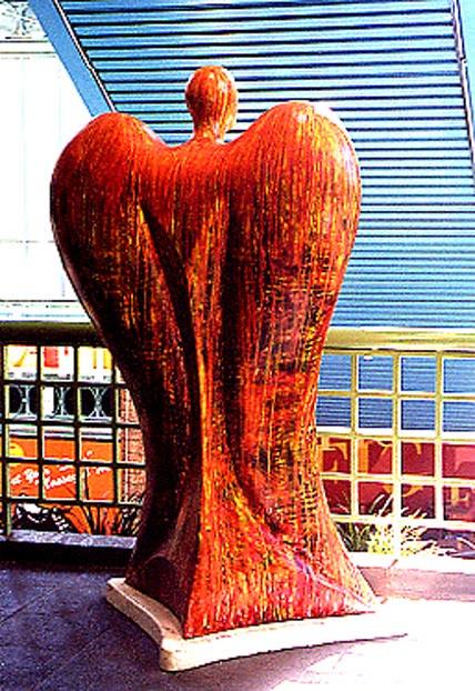 Victor Angelo Artist Public Art Paintings Angel Painted Sculpture Commission City Los Angeles Downtown LA