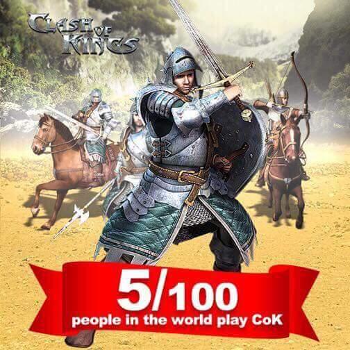 Dünya Nüfusunun %5'i Clash of Kings Oynuyor