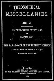 Cover of Eliphas Levi's Book The Paradoxes Of The Highest Science