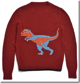 55013 T-Rex Intarsia Sweater - RED