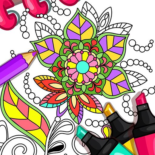 Mandala coloring game Icon