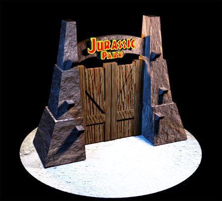 Jurassic Park Gate Papercraft