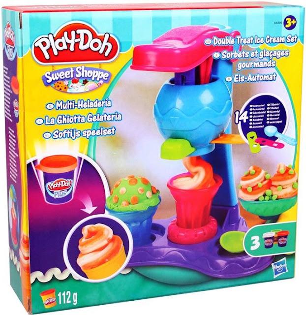 Sản phẩm Bột nặn máy làm kem đơn giản Play-Doh A4896 Double Treat Ice Cream Set