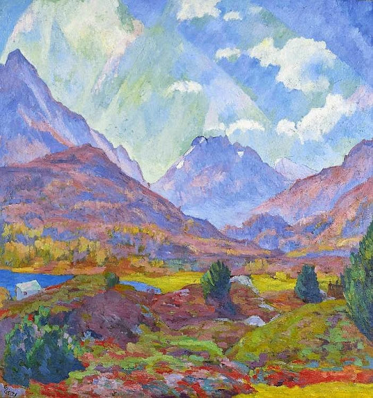 Giovanni Giacometti - Monte Forno. 1921