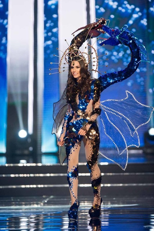 Catalina Paz Caceres, Miss Chile 2016 debuts her National Costume on stage at the Mall of Asia Arena on Thursday, January 26, 2017.  The contestants have been touring, filming, rehearsing and preparing to compete for the Miss Universe crown in the Philippines.  Tune in to the FOX telecast at 7:00 PM ET live/PT tape-delayed on Sunday, January 29, live from the Philippines to see who will become Miss Universe. HO/The Miss Universe Organization