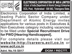 ECIL Advertisement 2017 www.indgovtjobs.in