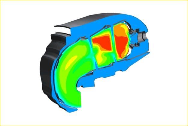 ANSYS - Моделирование горения в газовой турбине