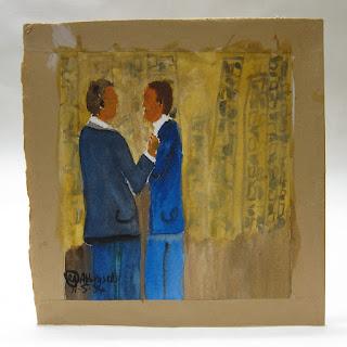 Rowan Abbensetts Signed Folk Art Painting