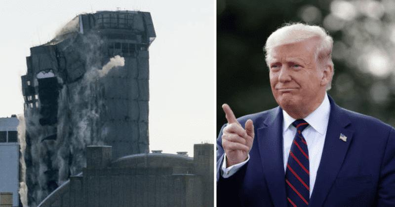 Donald Trump's Atlantic City Hotel and Casino demolished (video)