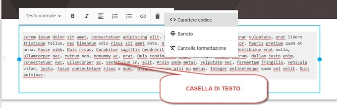 casella-testo-google-sites