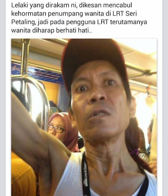 Kaki Cabul Dalam LRT Dikesan