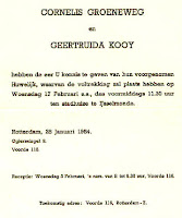 Groeneweg, Cornelis en Kooij, Geertruida Trouwkaart 17-02-1954.jpg