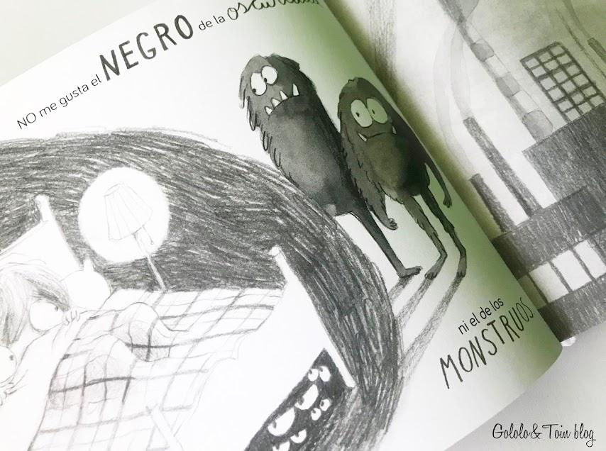 Color negro en el cuento De qué color es un beso de editorial Algar
