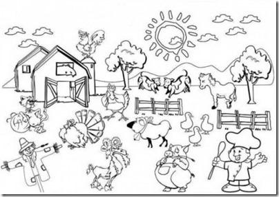 granja y animales colorear (8)