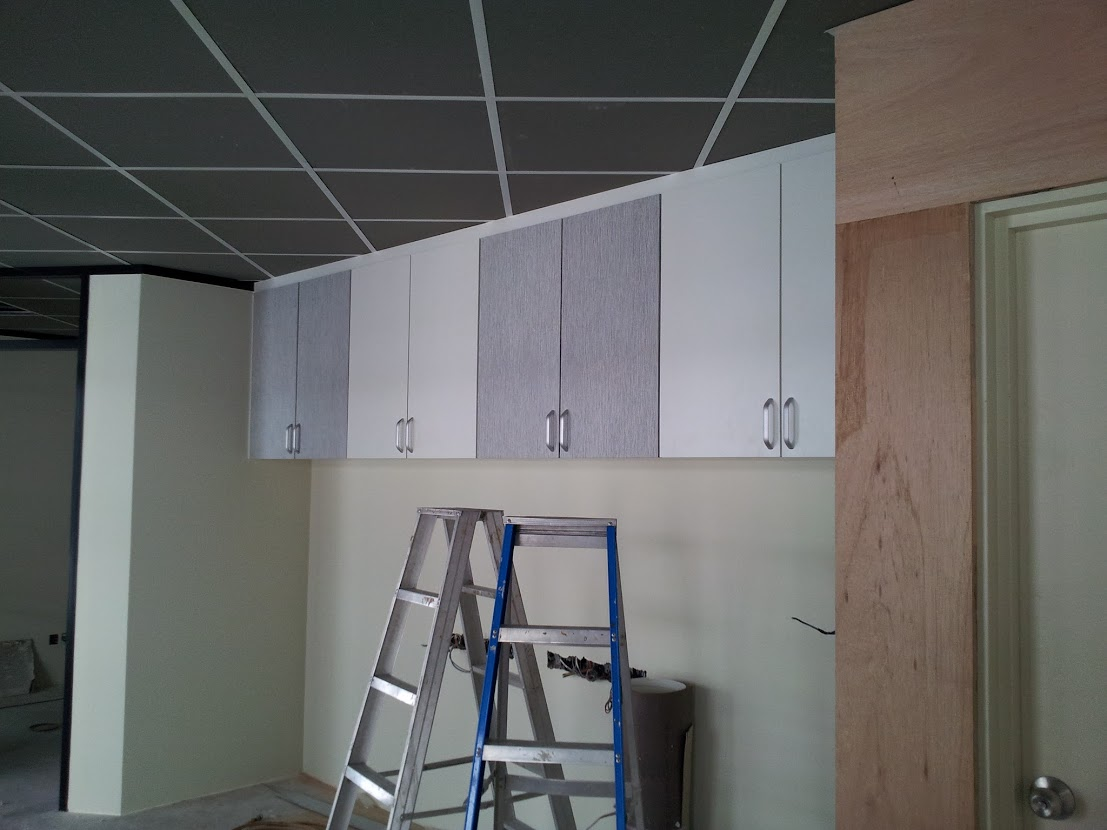 install hung filing cabinet