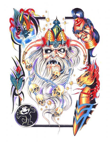 Design Of Magick Tattoo 7, Fantasy Tattoo Designs