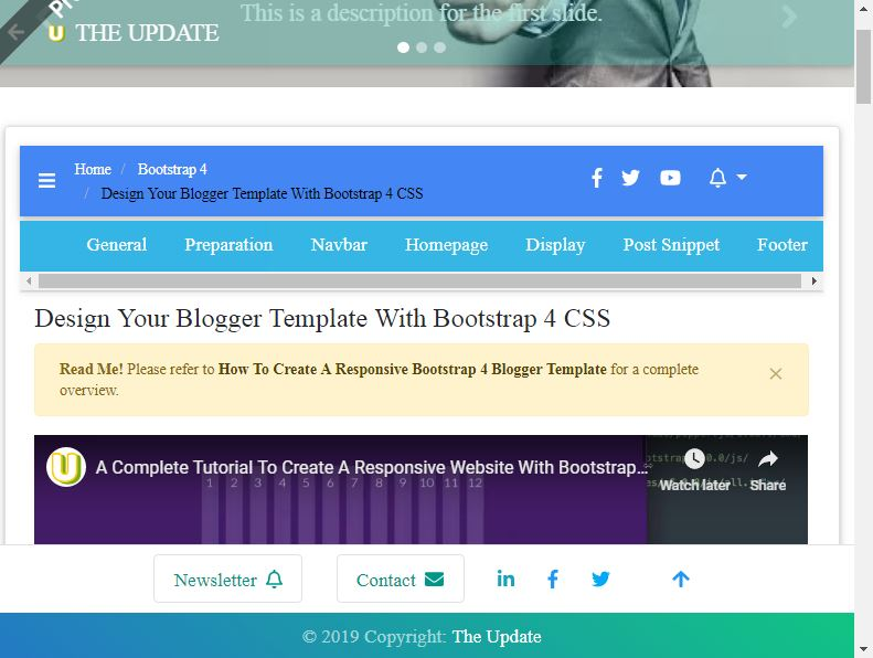 Design Your Blogger Template With Bootstrap 4 CSS - The Update