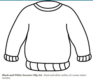 Template for an Ugly Christmas Sweater Drawing