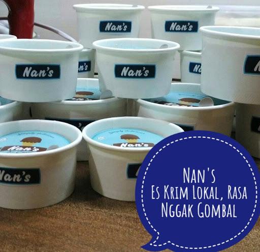 Nan's Es Krim Lokal...Rasa Nggak Gombal.