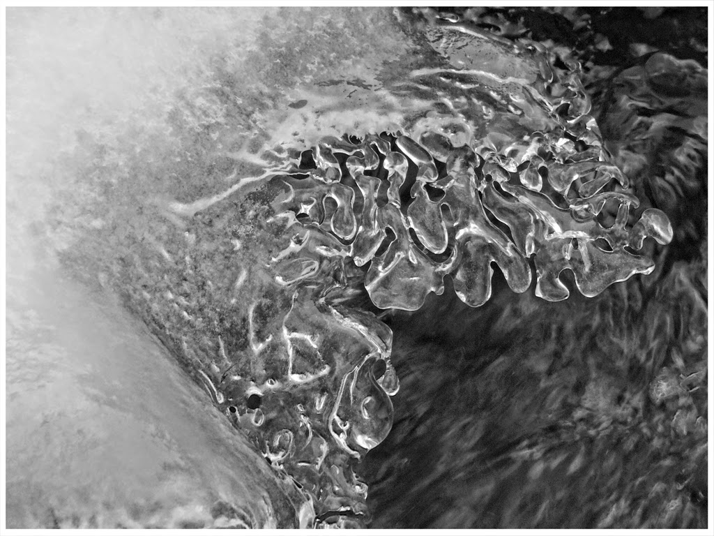 """""""Black and White Ice"""" by Celene Wendt -- 2nd place A Special"""