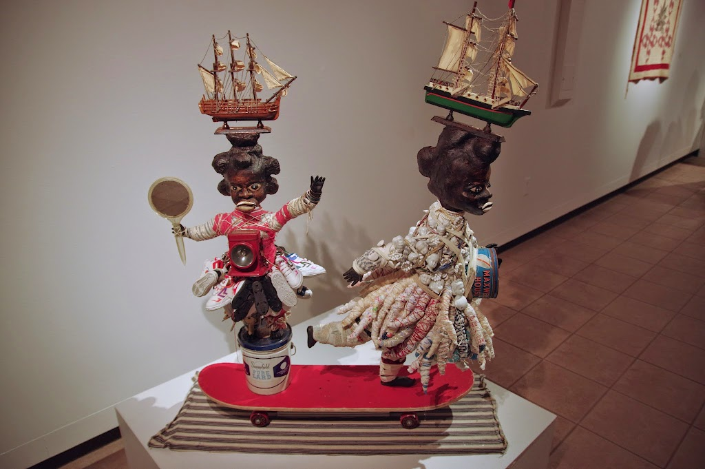 Two Ships Passing in the Night or I Take my Soul with me Everywhere I go. Thank you. Vanessa German's sculpture currently on exhibit at the Paxson Gallery on the UM campus.©williammunoz
