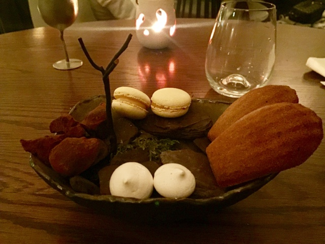 Chocolate truffles, macarons, meringues and madeleines at Texture restaurant London