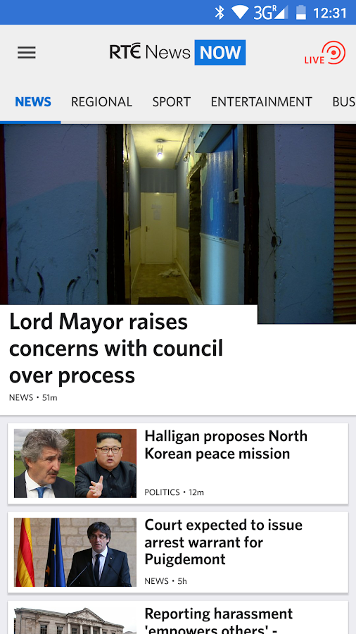 RTÉ News Now- screenshot