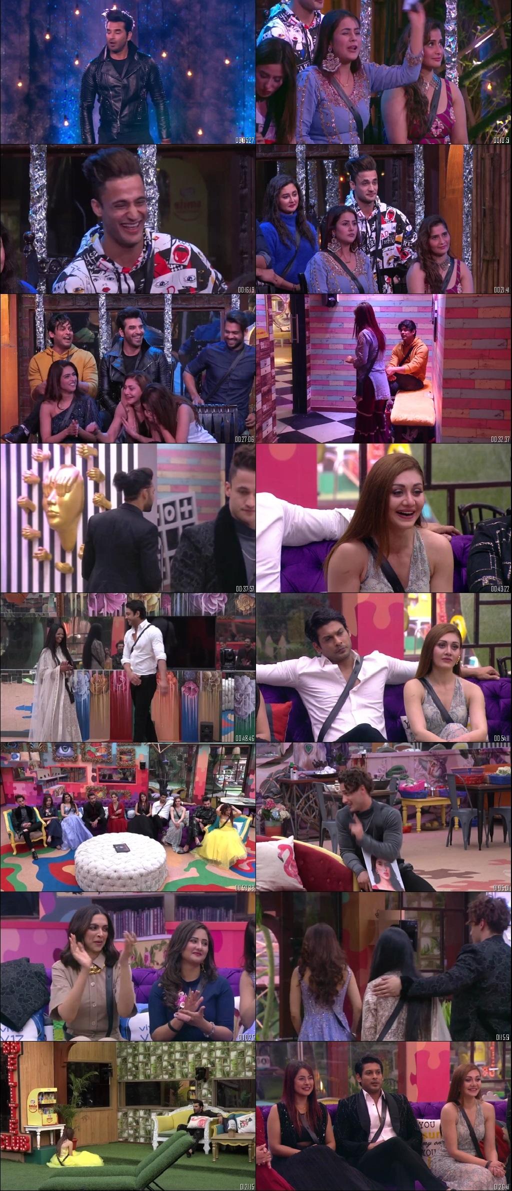 Screenshots Of Hindi Show Bigg Boss 13 11th January 2020 Episode 103 300MB 480P HD