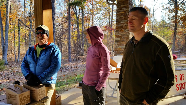 FRARO Board members, John Skuce, Cat Nordan and Nicolas Davidson getting ready to serve up some coffee.